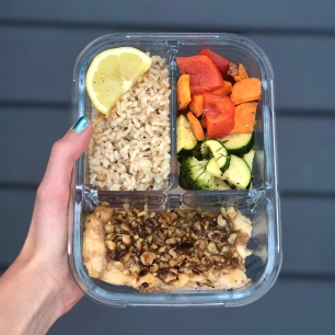 Walnut-Crusted Salmon and Chicken Meal Prep